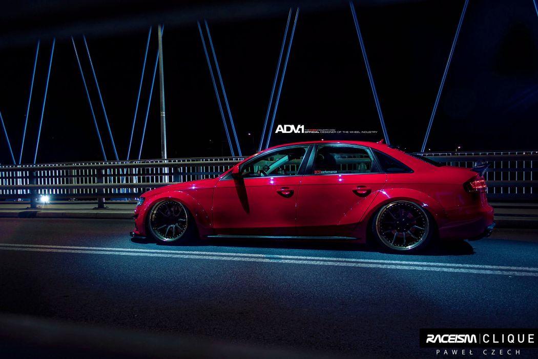 AUDI-A4 Widebody cars sedan red adv1 wheels wallpaper