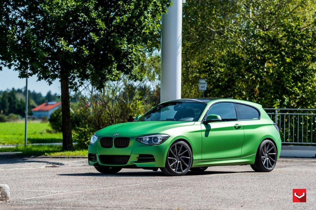 BMW 1-Series cars green vossen wheels wallpaper