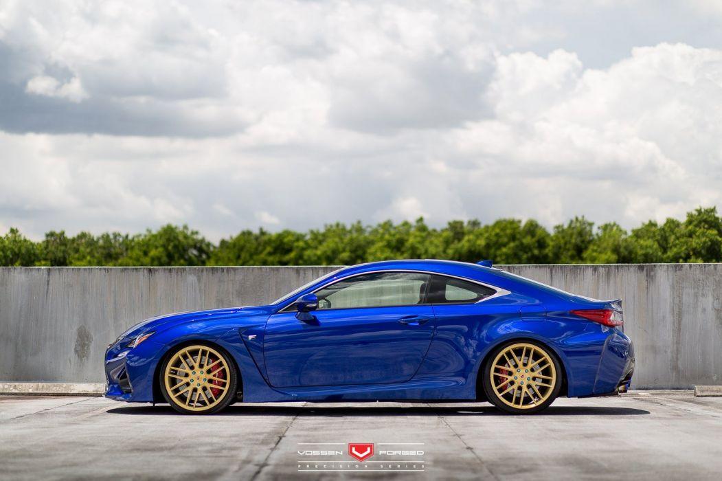 Lexus RC-F cars blue coupe vossen wheels wallpaper