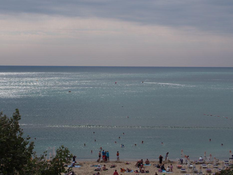 sunny beach sea seaside morning shinny day bulgaria wallpaper
