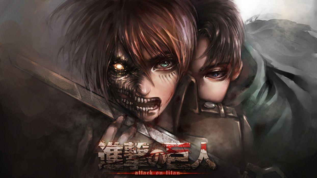 Shingeki no Kyojin anime character series wallpaper