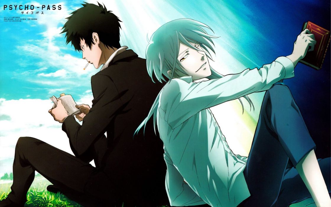Psycho-Pass anime character series guys wallpaper