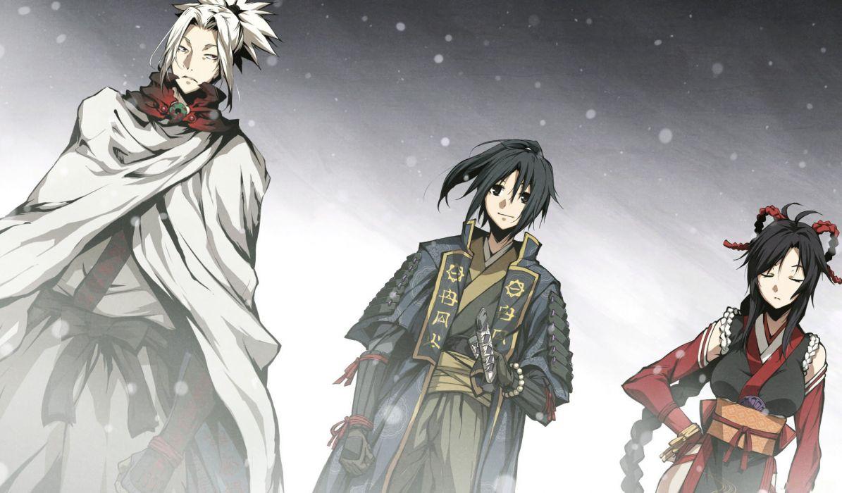 kajiri kamui kaguraa anime character series beautiful group snow wallpaper