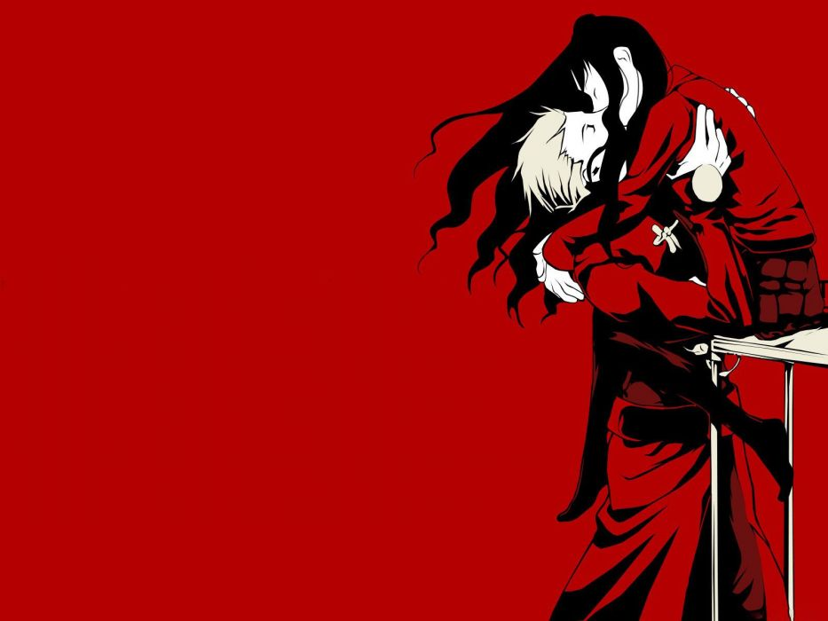 Fate Stay Night anime character series beautiful cool boy couple red love group wallpaper