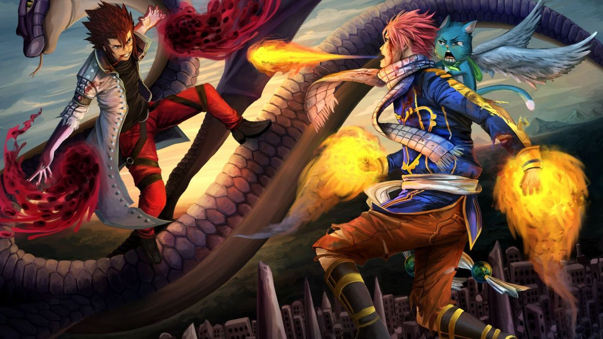 fairy tail anime character series cool boys group wallpaper
