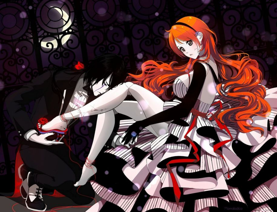 anime character series beautiful dress girl couple bleach wallpaper