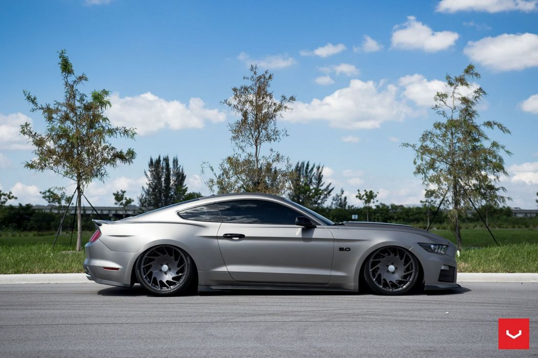 Vossen Wheels 2015 Roush Performance Ford Mustang coupe cars modified wallpaper
