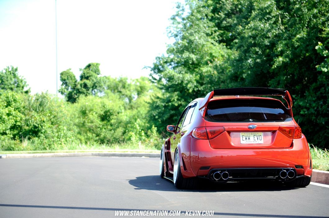 Subaru sti hatchback cars modified wallpaper