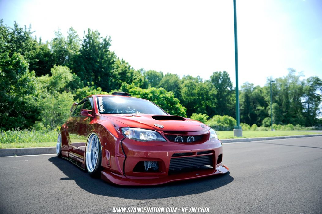 Subaru sti hatchback cars modified wallpaper