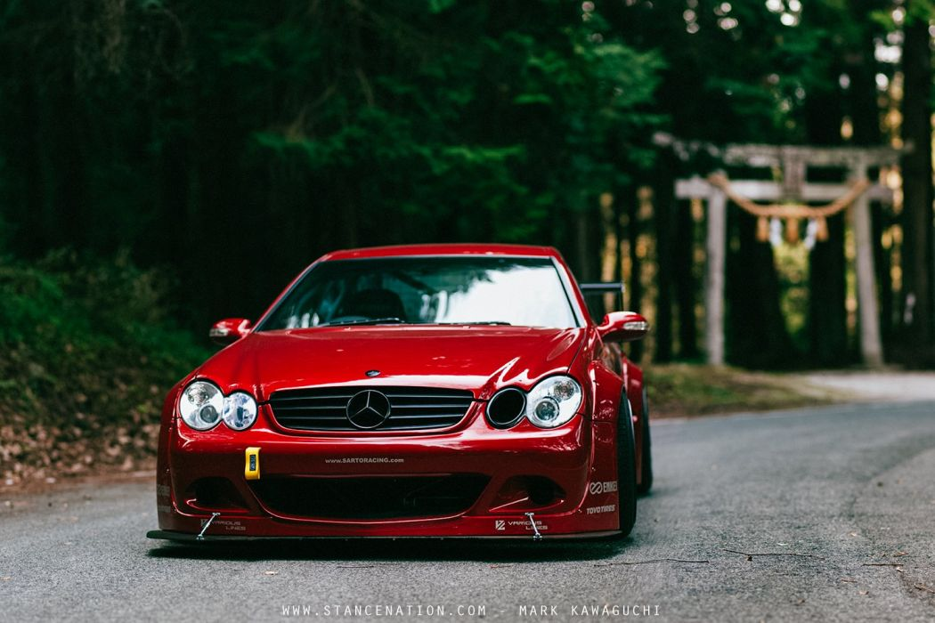 mercedes slk coupe cars Widebody modified wallpaper