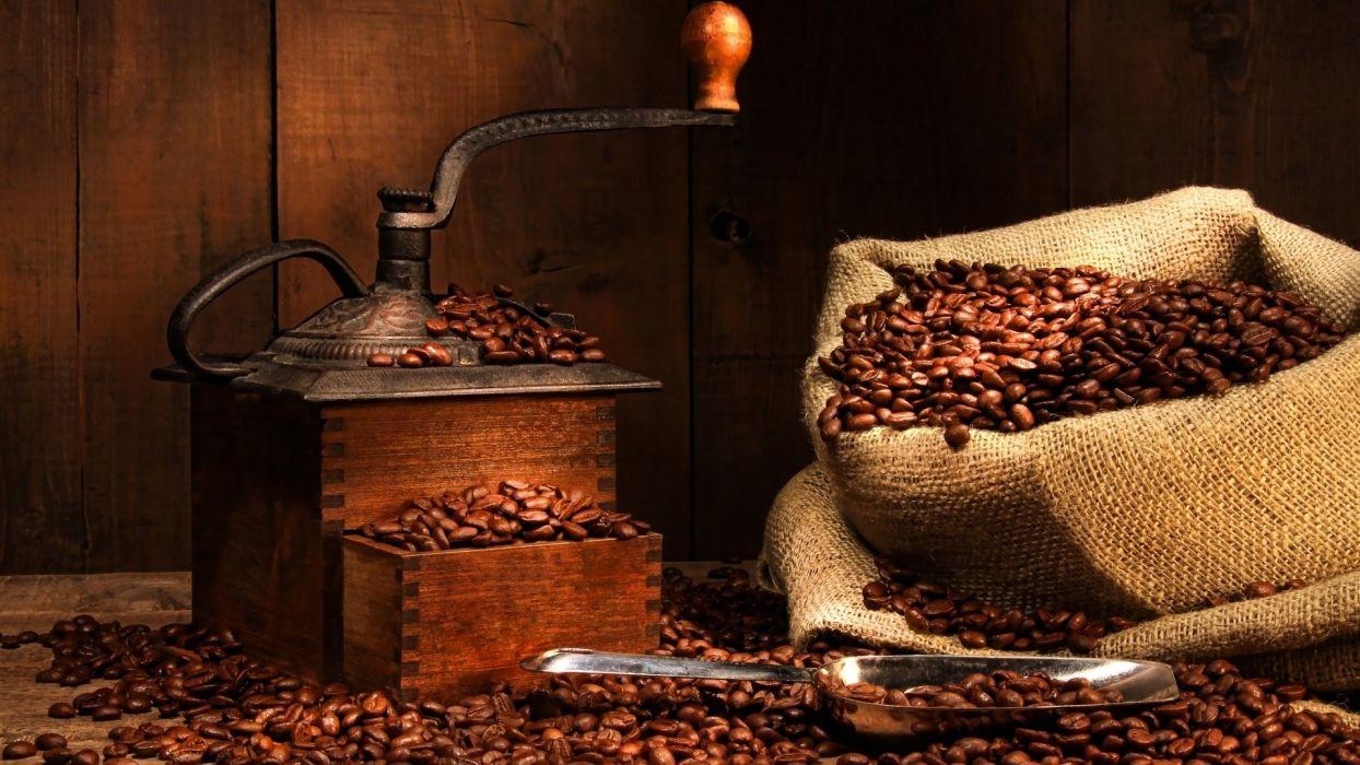coffee grinder bag coffee beans wallpaper