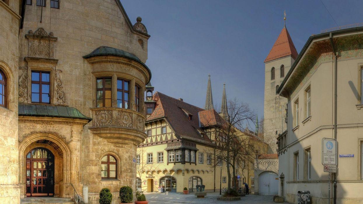 regensburg bavaria germany city beeuty wallpaper