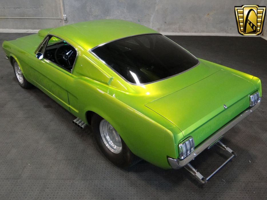 1965 Ford Mustang Fastback cars green wallpaper