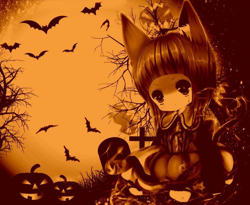 HALLOWEEN holiday dark horror spooky wallpaper