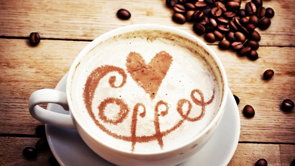 coffee drink heart delicious cup wallpaper