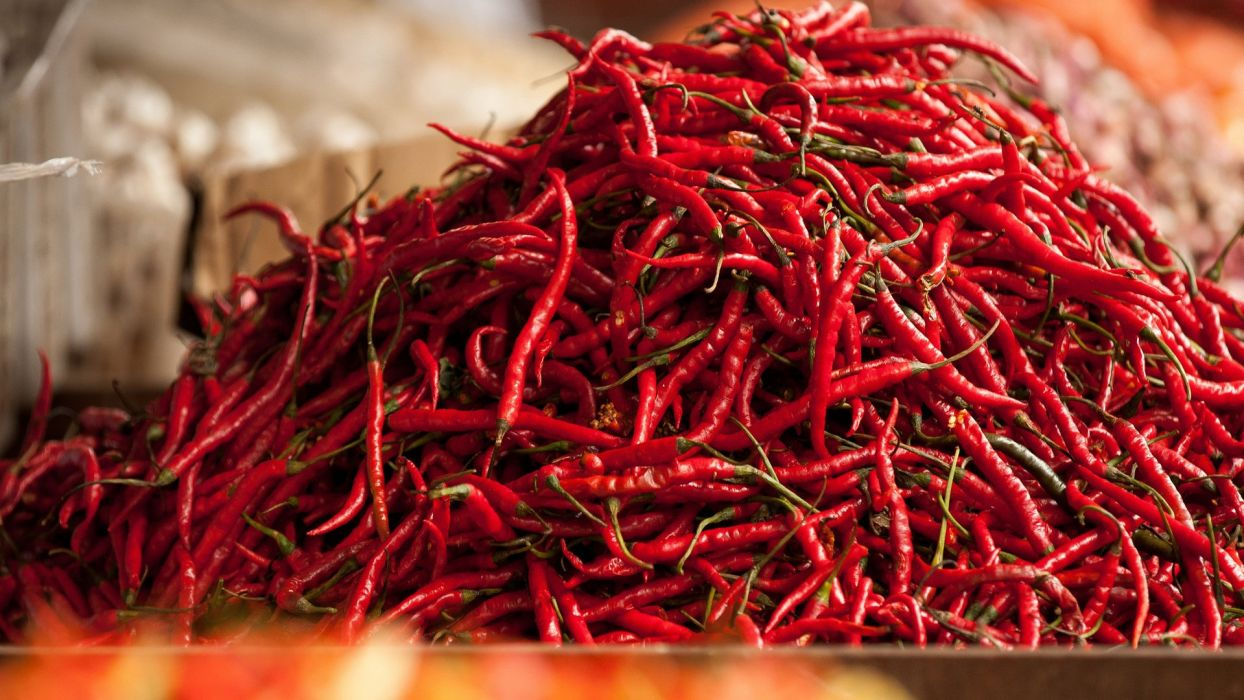 red chili pepper food wallpaper