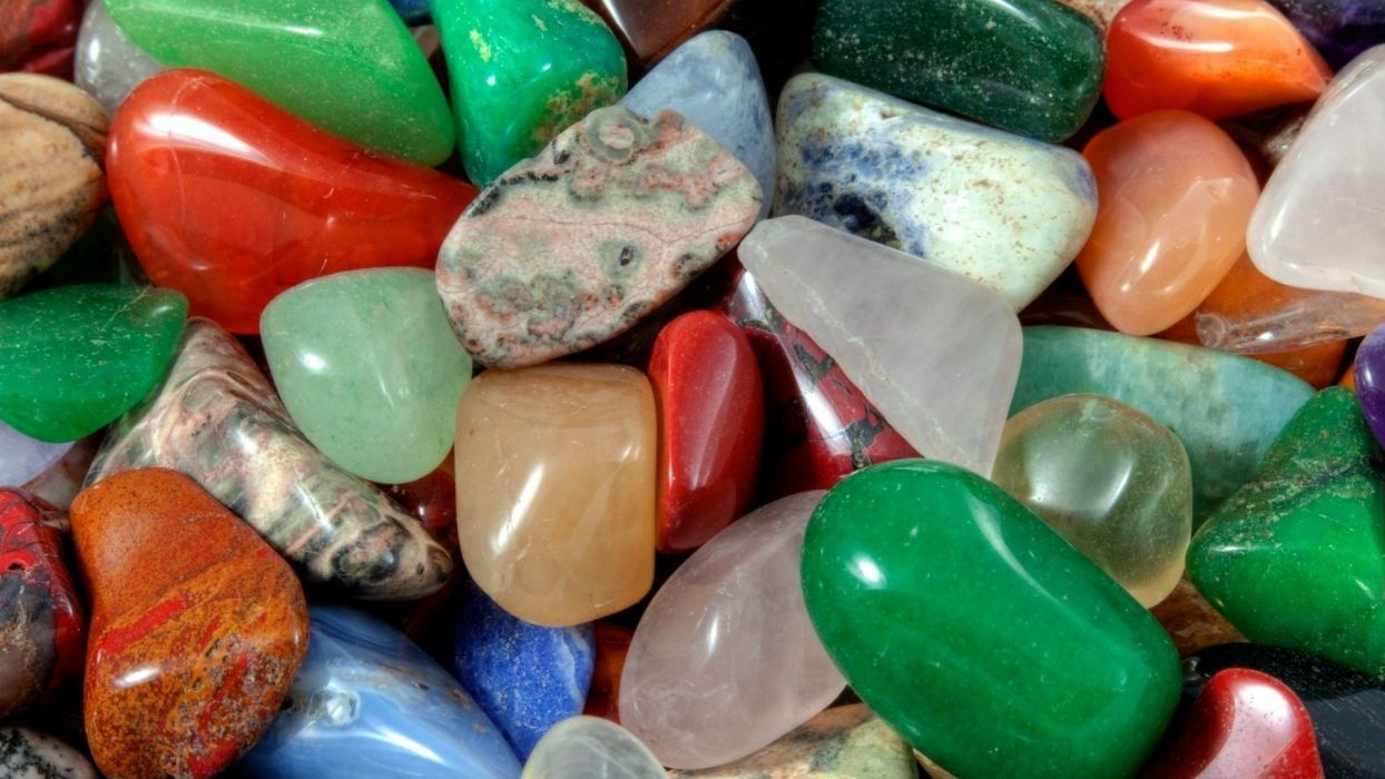 colored stones beautiful beach wallpaper