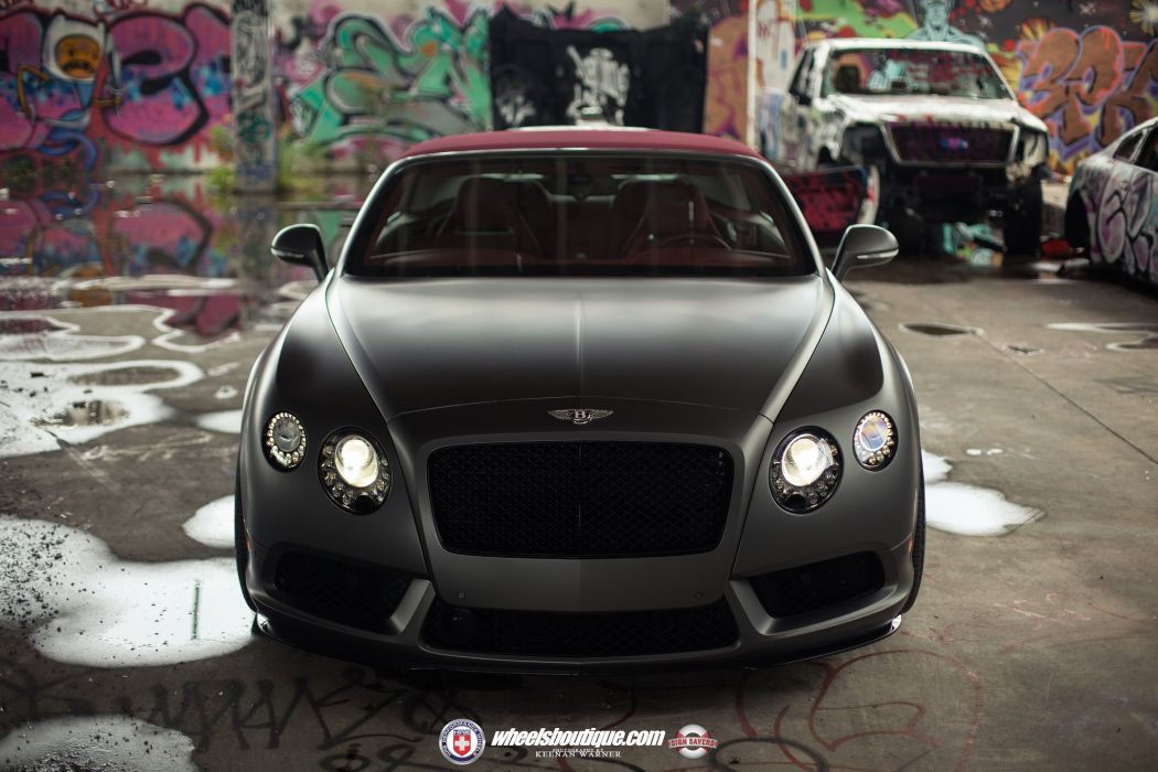 Bentley Continental Gt V8 S Black Matt Convertible Cars Hre Wheels Wallpaper 2048x1365 816472 Wallpaperup