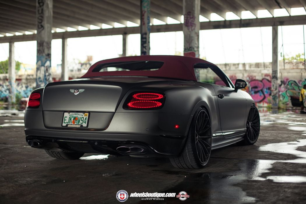 Bentley Continental Gt V8 S Black Matt Convertible Cars Hre Wheels Wallpaper 2048x1365 816473 Wallpaperup