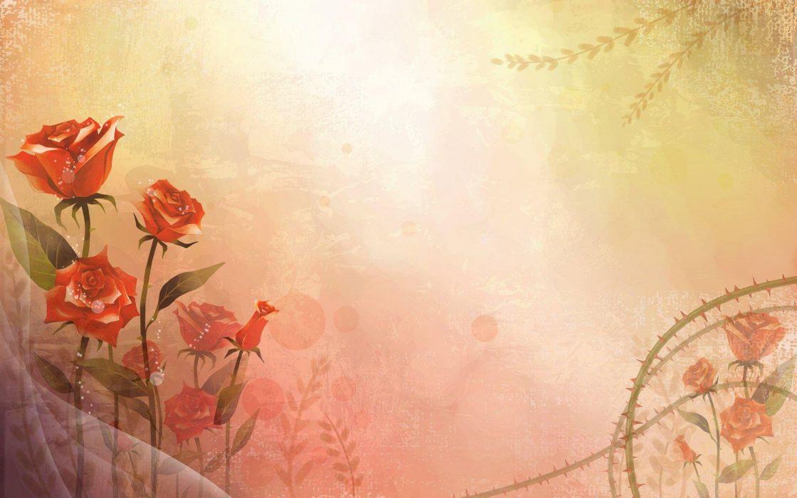 abstracto vector flores wallpaper