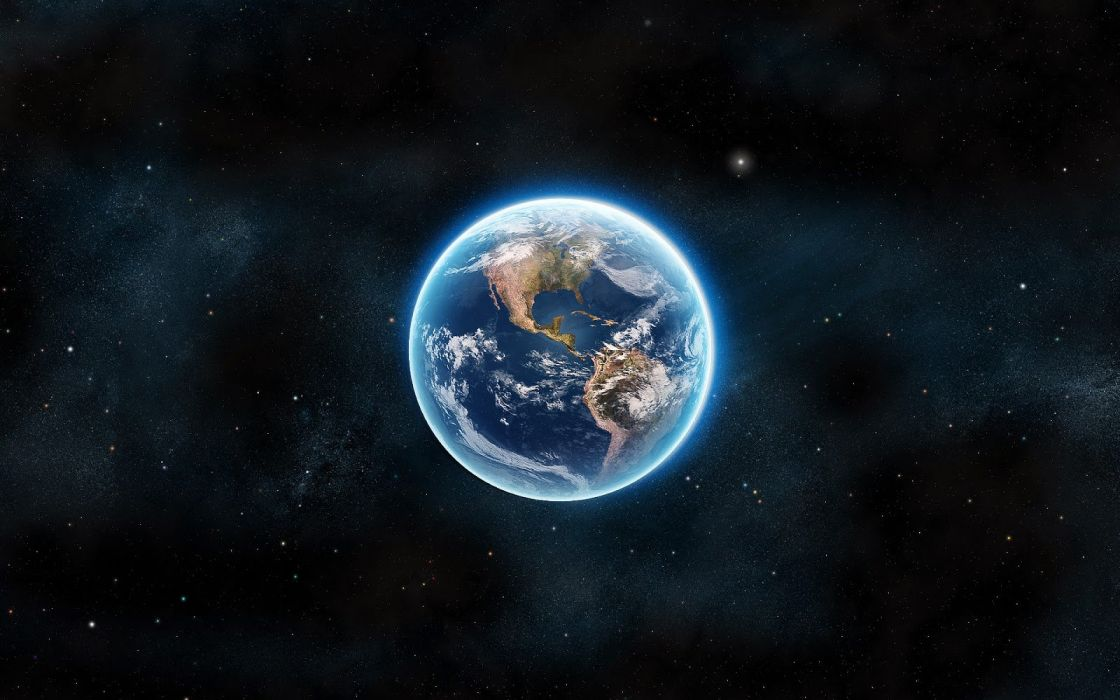 3d space earth beauty wallpaper
