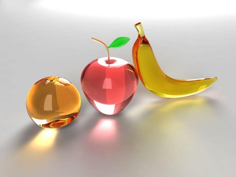 3d digital art fruits wallpaper