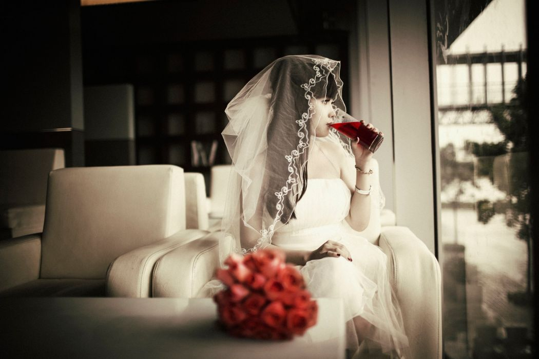 rose girl beauty bridal wedding dress wallpaper