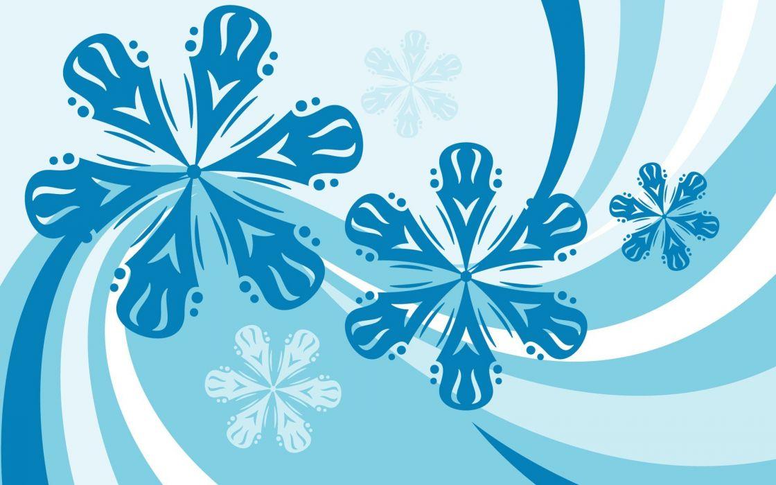 abstracto vector flores azules wallpaper