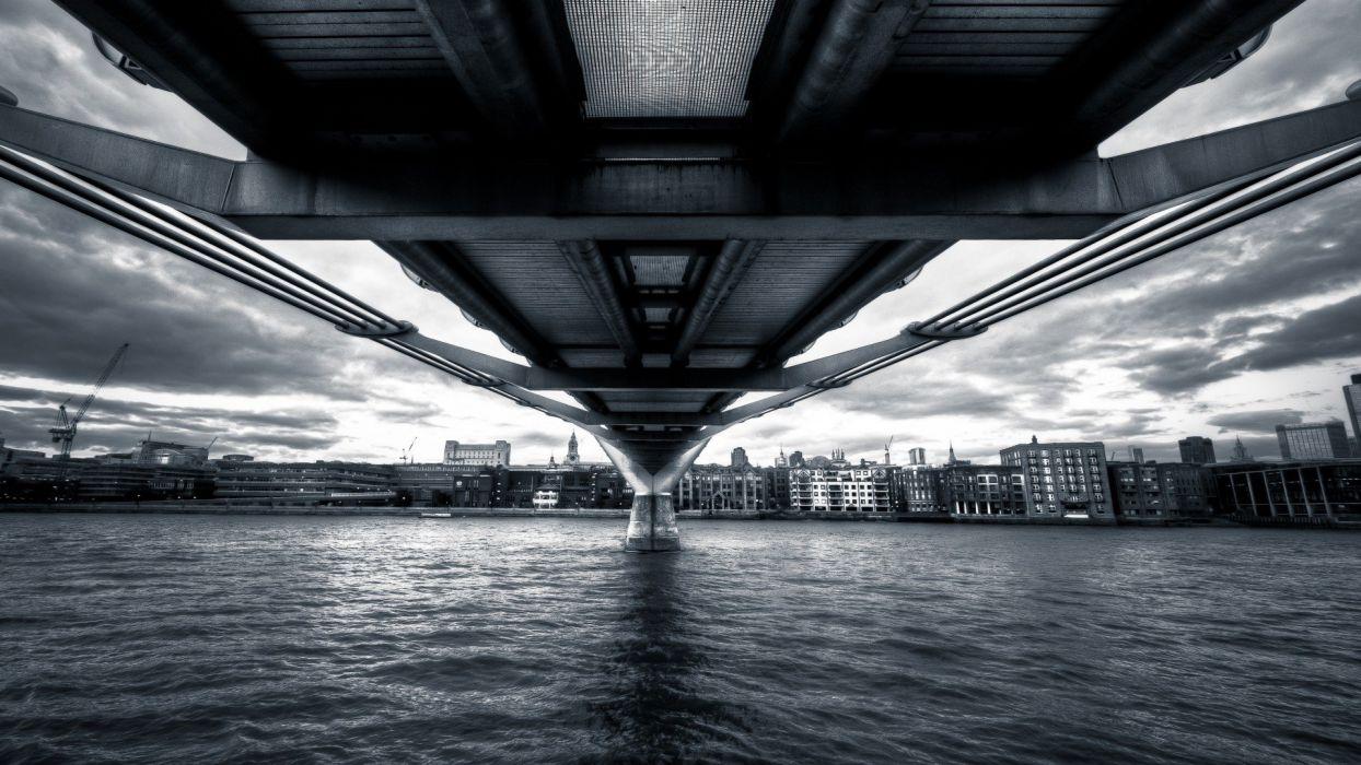 Under the bridge city landscape beauty wallpaper