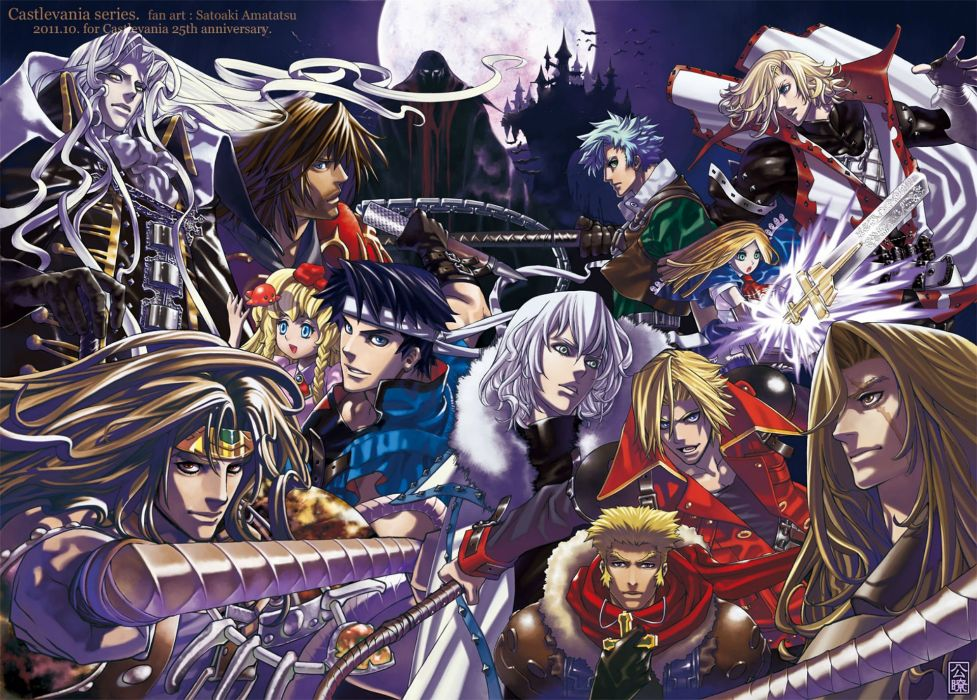CASTLEVANIA fantasy dark vampire dracula adventure action platform warrior wallpaper