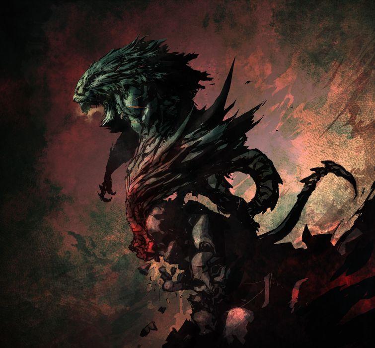 CASTLEVANIA fantasy dark vampire dracula adventure action platform warrior monster dragon wallpaper