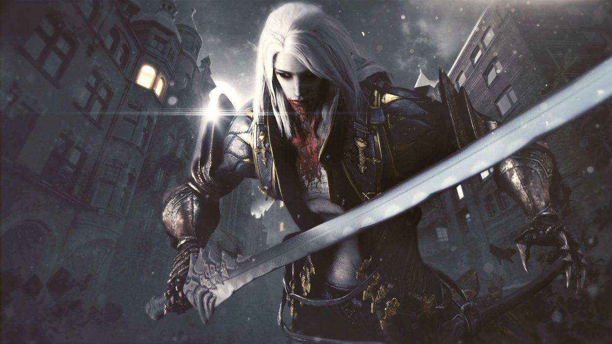 CASTLEVANIA fantasy dark vampire dracula adventure action platform warrior blood wallpaper