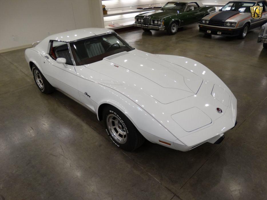 1975 Chevrolet Corvette coupe white cars wallpaper