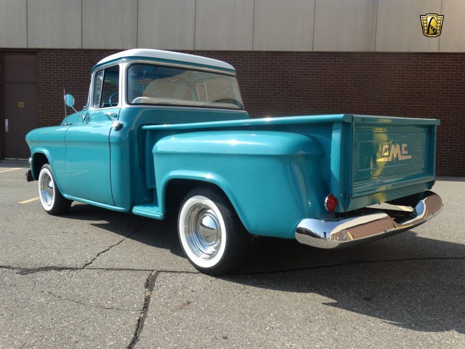 1955 GMC 100 blue pickup cars usa wallpaper