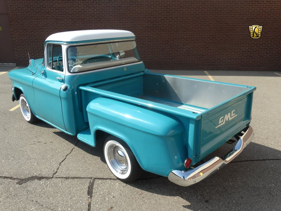 1955 GMC 100 blue pickup cars usa wallpaper