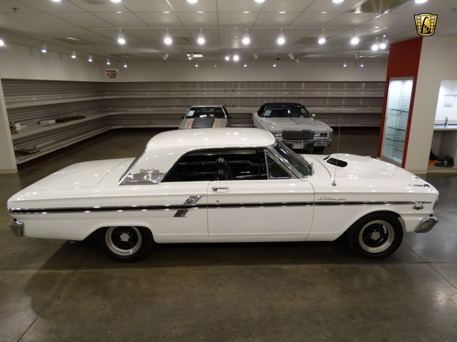 1964 Ford Fairlane Thunderbolt white cars usa wallpaper