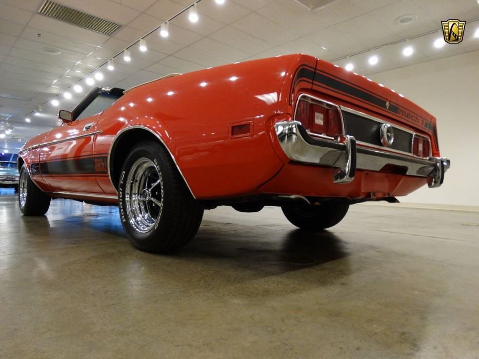 1973 Ford Mustang mach-1 convertible cars red usa wallpaper