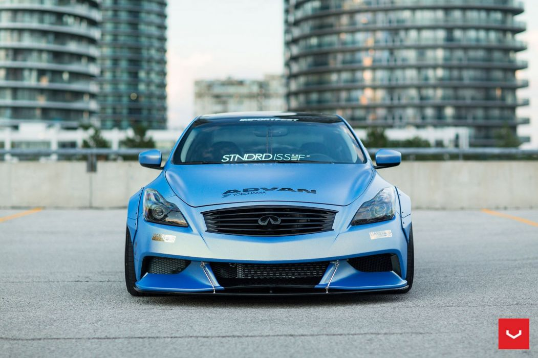 Liberty Walk Infiniti G37 Vossen Forged wheels cars sedan wallpaper