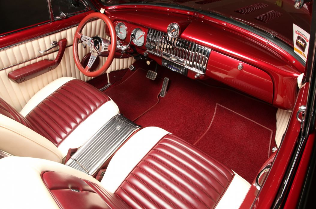 1952 Chevrolet Chevy Convertible Custom Old School Low USA -05 wallpaper