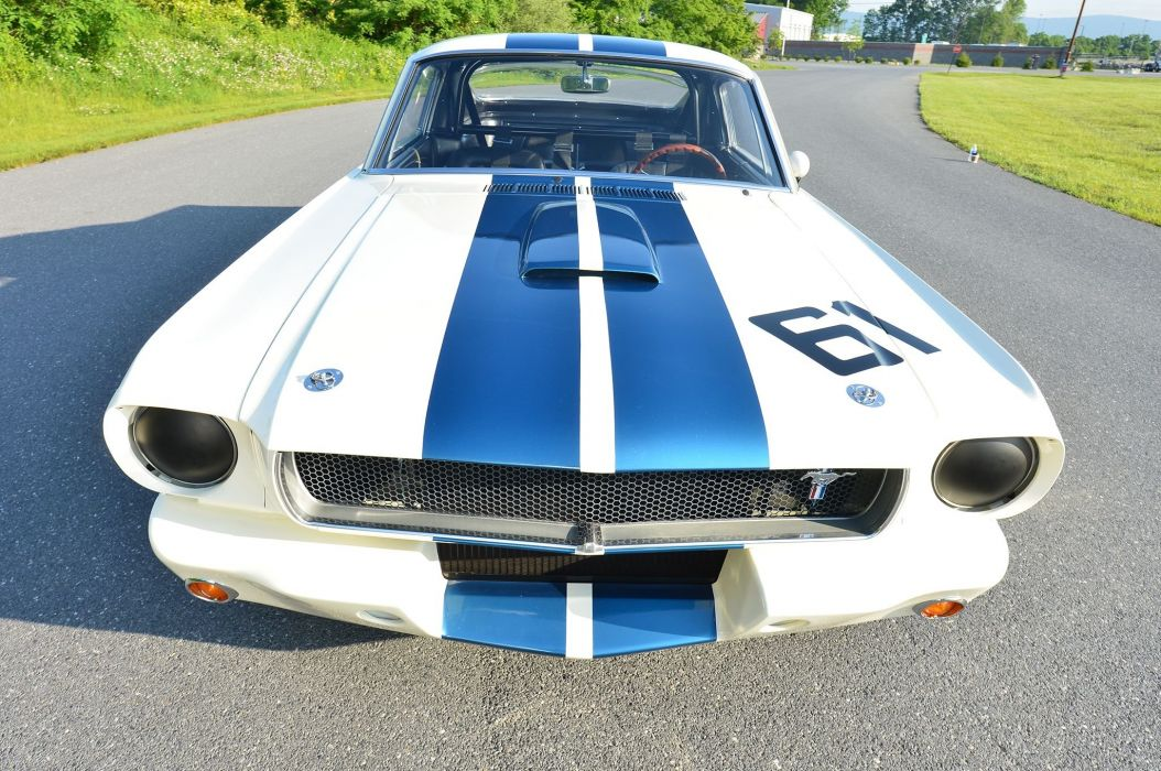 1965 Ford Mustang Shelby GT-350 Race Car Classic Old USA -02 wallpaper