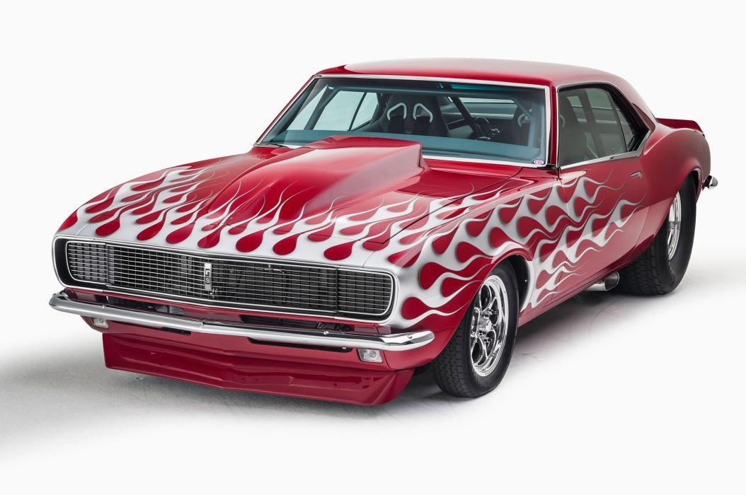 1968 Chevrolet Chevy Camaro Super Steet Pro Street Drag USA -01 wallpaper