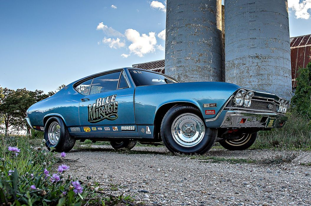 1968 Chevrolet Chevy Chevelle Ptostock Drag Racer Muscle Classic USA -02 wallpaper