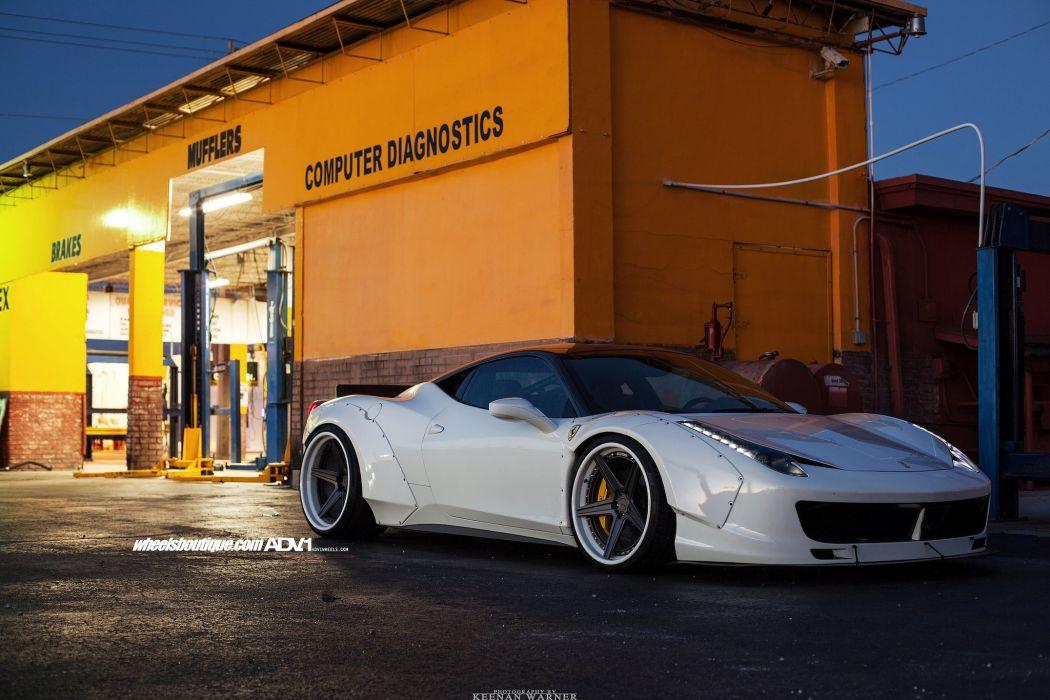 Ferrari 458 Liberty Walk adv1 Forged wheels cars white wallpaper
