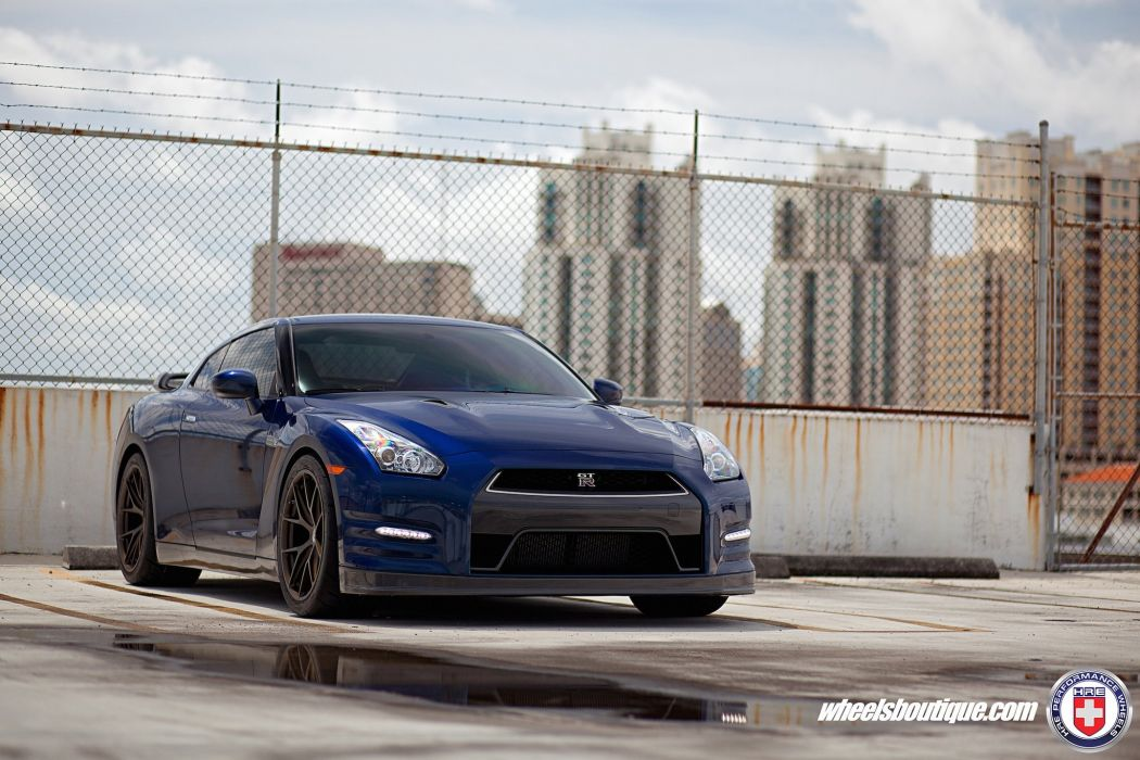 nissan gtr hre Forged wheels cars blue wallpaper