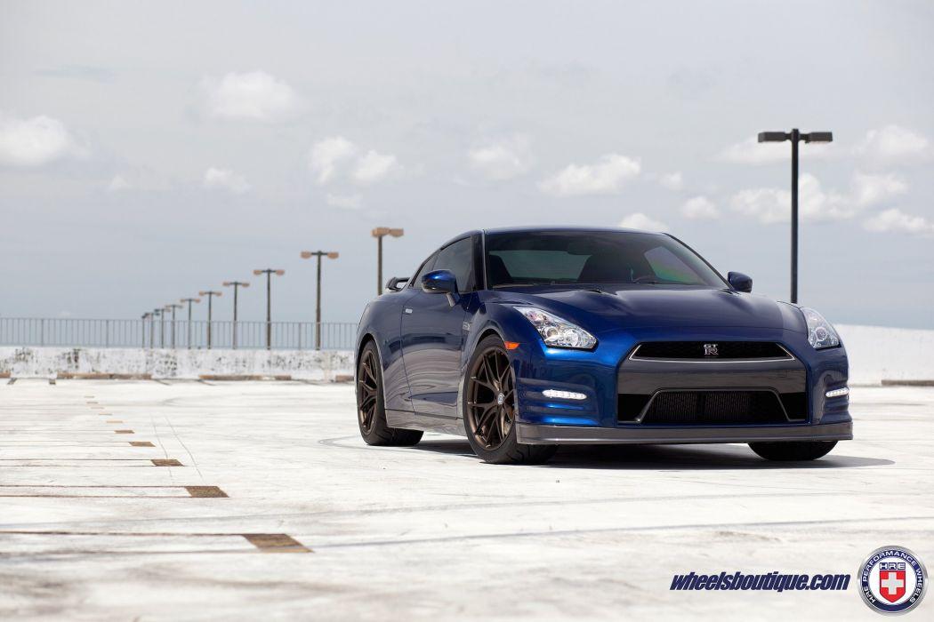 nissan gtr hre Forged wheels cars blue wallpaper
