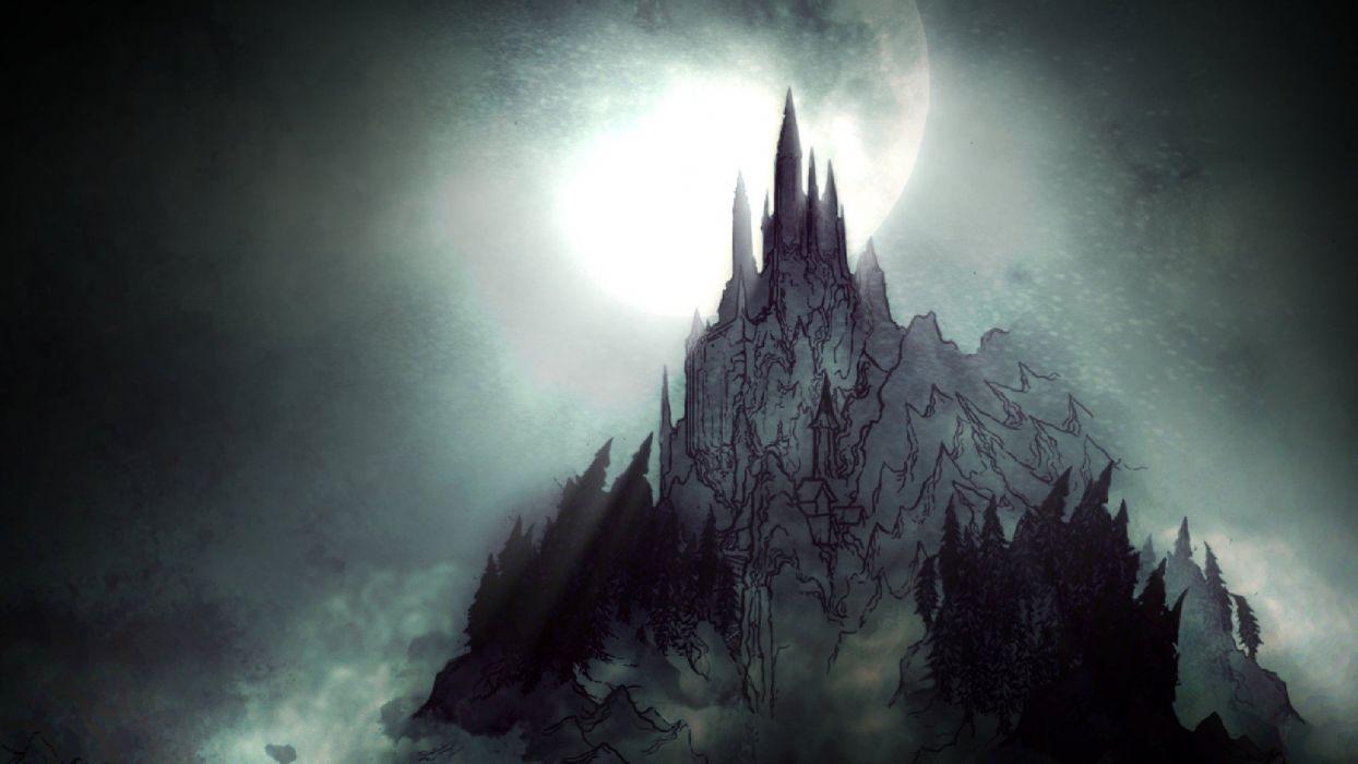 CASTLEVANIA fantasy dark vampire dracula adventure action platform warrior castle wallpaper