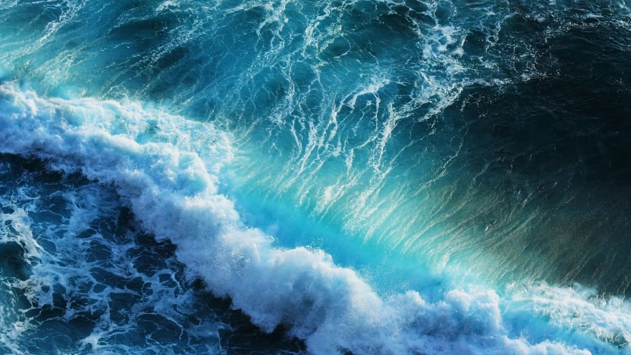 wall sea nature blue beauty wallpaper