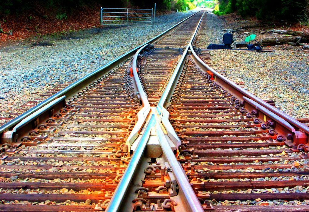 train railroad tracks locomotive engine tractor railway wallpaper