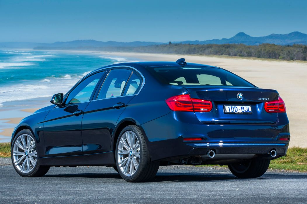 BMW 340i Luxury Line AU-spec (F30) cars sedan 2015 wallpaper