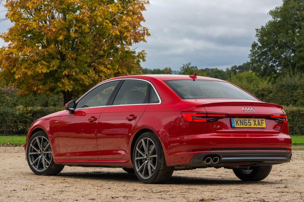 Audi-A4 TDI quattro S-line UK-spec (B9) cars sedan 2015 wallpaper